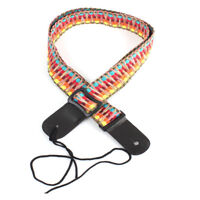 Adjustable Classic Style Guitar Soft Strap Cotton For Belt Electric Bass Z7T5