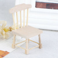 1:12 Dollhouse Miniature Doll Furniture Chic Brown Wooden Dining Chair Stoo MO