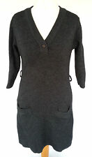 Unbranded Patternless V-Neck 3/4 Sleeve Dresses for Women