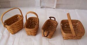 Longaberger Basket Lot of 4 smaller Baskets with no liners