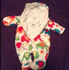 Bright Coloured Elephants Baby Boy Girl Padded Pram Suit Onesie by Nursery Time Newborn