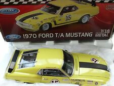 Welly 1970 Ford T/A Mustang Trans AM 15 George Follmer 1:18 Diecast Car