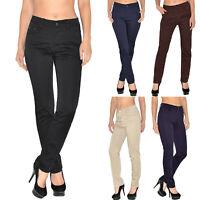 Damen High Waist Hose Damen Hochbund Stretch Hose bis Übergröße 56 T101