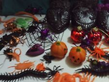 Halloween Decoration Party Favors , 1980 Pumpkin Pez ,Spiders, Skeletons Lot