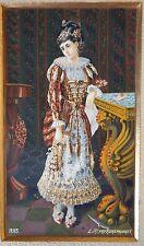 HENRY REHSPRINGER GOUACHE ALSACE 1885 THEATRE COMEDIENNE FEMME Unfaithful Lady