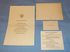 1942 Duke University Commencement Invitation & Program Card Vintage Rare