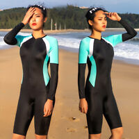 Women Long Sleeve Diving Suit Stretch Anti-UV Wetsuit Swimming Surf Surprise