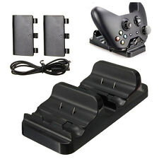 Dual Charging Station Dock Stand + 2 Battery For Xbox One Wireless Controll D5Z6