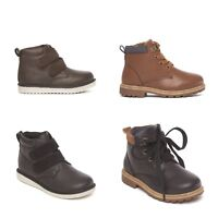Boys Shoes Lace and Touch Fastening Casual Boots Smart Footwear Boxed UK 6-12