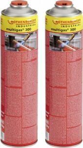 Rothenberger Multigas 300 Duo-Pack 2 Stück à 600 ml Gasgemisch Schraubkartuschen