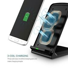 Samsung Galaxy S9 Plus Wireless Charger Charging Stand Ultra Fast Triple Coils
