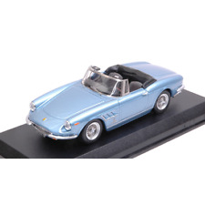FERRARI 330 GTS 1967 LIGHT BLUE METALLIC 1:43 Best Model Auto Stradali Die Cast