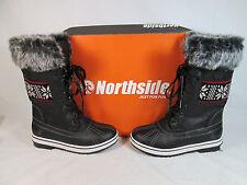 Northside BISHOP Mid-Calf Winter/Snow Boots w/Faux Fur Black Sz 7-M