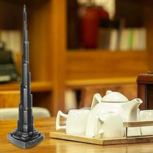World Famous Landmark Home Ornaments 18cm Statue Burj Khalifa Tower Model Crafts