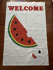 Large 55� X 35� Welcome Spring Summer Time Watermellon Flag