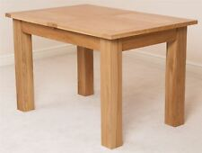 Solid Oak Wood Medium 120cm Extending Table Wooden Dining Room Furniture
