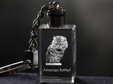 Bobtail américain, porte-clés en cristal, qualité supérieure, Crystal Animals FR