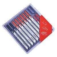 10pc Jigsaw Blade Set T-Slot Fitting Fit Shank Jig Saw Metal Plastic Wood Blades