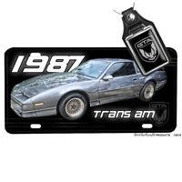1977 Pontiac Trans Am Red Aluminum License Plate