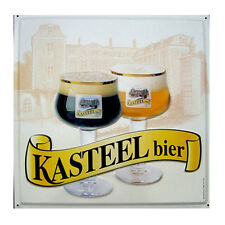 Quadro Targa in latta Birra Kasteel Belgio arredo bar pub birreria