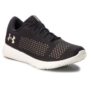 Under Armour UA Rapid Running Trainers Ladies Black Gym Sports Training Shoes