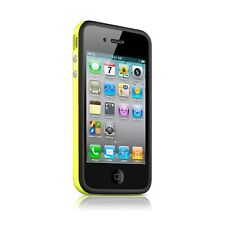 Funda Parachoques HQ para iPhone 4S/4 Bi de color negro/Amarillo+ film av/ar