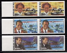 AVIATION PIONEER JEAN MERMOZ ON MALI 1986 Scott C526-C528 IMPERFORATE, PAIR, MNH