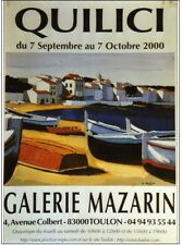 Affiche Jean Claude Quilici An 2000 Galerie Mazarin Toulon Port Barque Marine