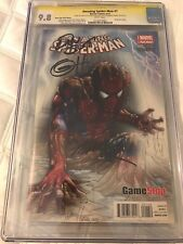 AMAZING SPIDER-MAN #1 Game Stop Fade Signature Serie SS Ramos Horn Slott CGC 9.8
