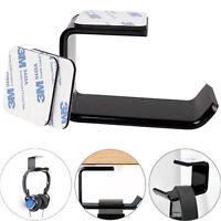 Acrylic Headphone Stand Hanger Hook Tape Under Desk Dual Headset Mount Holder AT