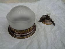 Alte Lampe Deckenlampe Glas mit Schliff