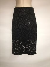 Express Skirt Size 4 Womens Length 25 inches Black Sequin NWT $79