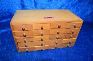 Alter Uhrmacher Schubladenkasten mit Inhalt aus Uhrmachernachlass 1nsa4