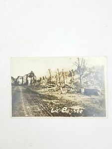 WW1 La Bassee Battlefield Ruins Rare RP Real Photo Postcard France French No 153