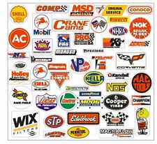 Racing Decals Sticker Set of 52 Grab Bag For Tool Box Locker Garage Mancave