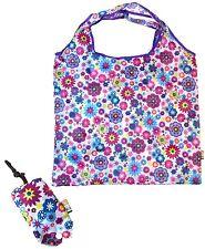 Soake Floral Splash Foldaway Reusable Shopping Bag Push Button Closure Pouch