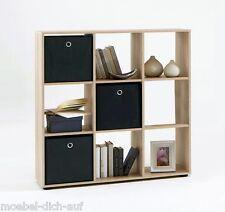 Raumteiler Bücherregal Regal Büroregal Aktenregal Stufenraumteiler MEGA 5 Eiche