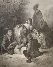 Gustave Doré  le lion amoureux La Fontaine 1868