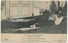 LOUIS BERTEAUX France Minister of Defence DEATHBED 1911 POSTCARD