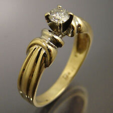 .30ct Diamond Solitaire 14k Yellow Gold Engagement Ring