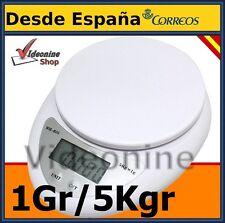 BALANZA DE COCINA BASCULA 5KG PESA ELECTRONICA DIGITAL COCINA OFICINA COMERCIO