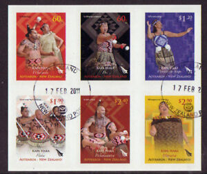 NEW ZEALAND 2011 KAPA HAKA SELF ADHESIVE SET 6 F.USED