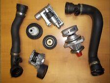 Bmw E46 Water Pump Upper Lower Radiator Hose Tensioner Pulley kit set