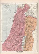 1923 MAP ~ Palestina NORD transjordania Giudea Samaria