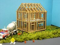 N SCALE  ** Laser Cut **  House Under Construction Kit