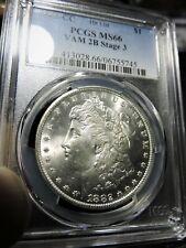 1882-CC MORGAN DOLLAR** RARE VAM-2B3**PCGS MS66**NICE WHITE COIN**HITLIST-40
