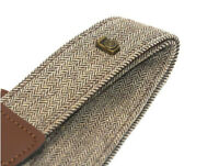 Brown Herringbone Tweed Retro Style Camera Neck Shoulder Strap DSLR UK STOCK