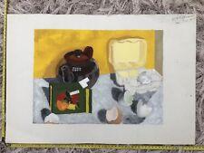 "1962 Contemporary Original Art by DR Adamson ""English Breakfast"""