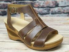 Dansko Trudy Waxy Calf Tan Leather Sandal  *3414-371500