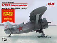ICM 48096 - 1/48 I-153 Soviet Biplane Fighter winter version WWII model kit